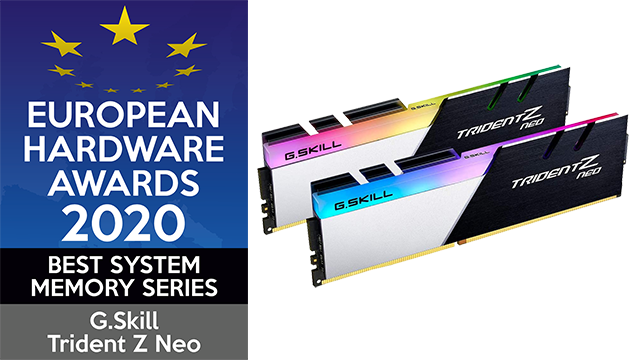 European Hardware Awards 2020 Best System Memory Series G.Skill Trident Z Neo