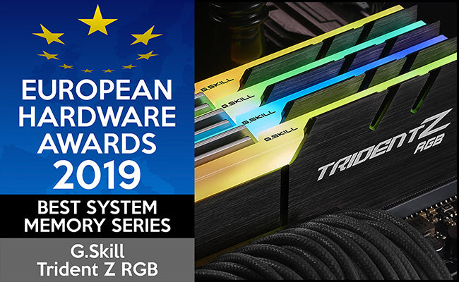 European Hardware Awards 2019 Best System Memory Series G.Skill Trident Z RGB