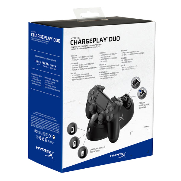 HyperX ChargePlay Duo PS4 Krovimo Stotelė - Spacebar.gg
