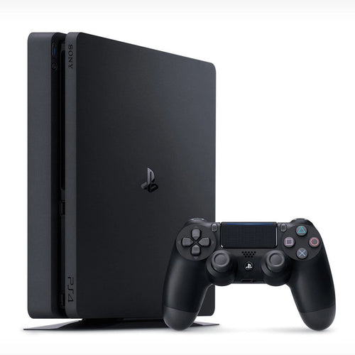 SONY PlayStation 4 (PS4) 500GB Slim Juoda Žaidimų Konsolė - Spacebar.gg