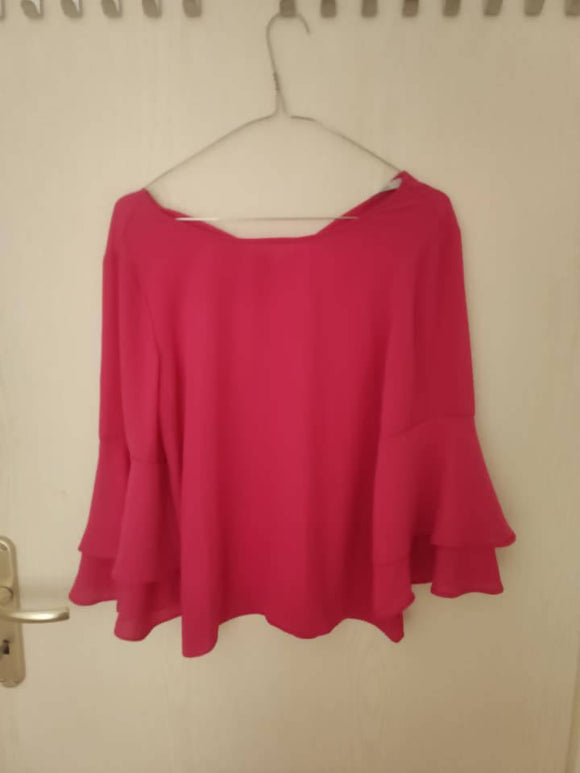 Bluse in fuchsia. gr. S - secondhandkiste.ch
