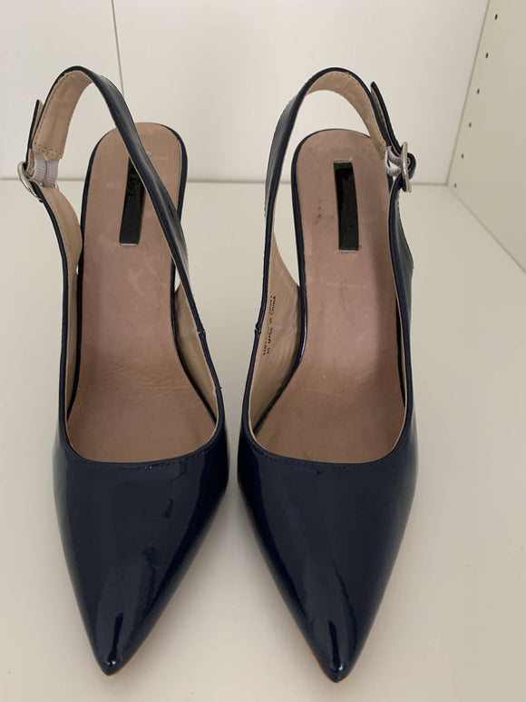 Lost Ink Cass slingback pointed court - secondhandkiste.ch