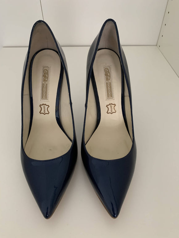 Buffalo High Heels Patent Blue - secondhandkiste.ch