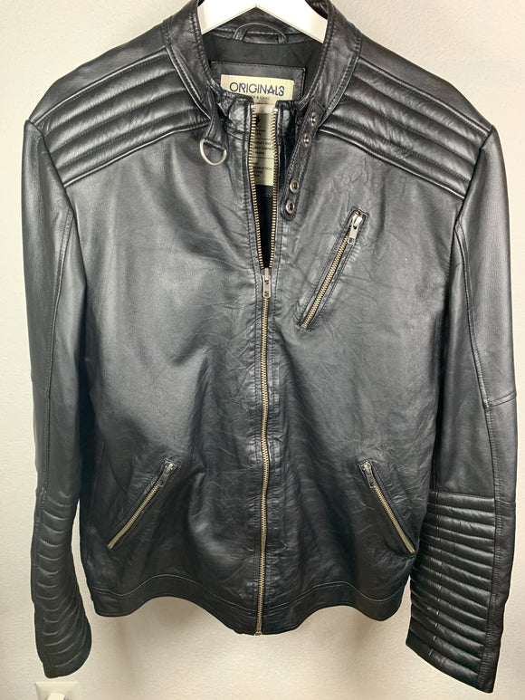 Jack & Jones Lederjacke Grösse L - secondhandkiste.ch