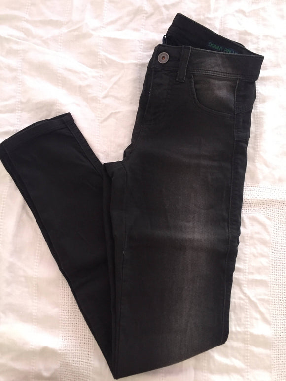 Benetton Jeans Skinny Pin up, dunkelgrau, Gr.25 (XS=32), Neu - secondhandkiste.ch