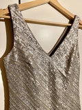 Kleid Pailletten silber BANANA REPUBLIC - secondhandkiste.ch