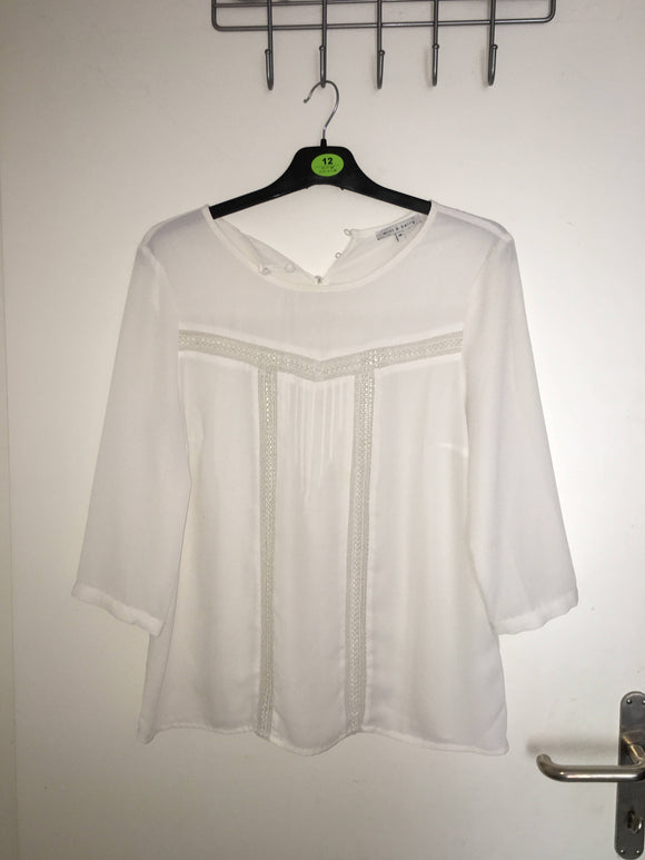 Weisse Bluse Mint and Berry - secondhandkiste.ch