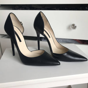 Zara Pointed-Toe Half D'Orsay Pumps - secondhandkiste.ch