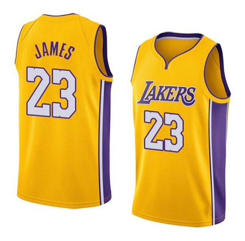 Camiseta baloncesto de NBA para hombres Jersey LOS ANGELES basketball LAKERS Yellow - AMERICAN PALMA STORE
