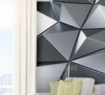Papel Tapiz de Pared Wall Murals 3D Abstract Geometric Pattern - AMERICAN PALMA STORE