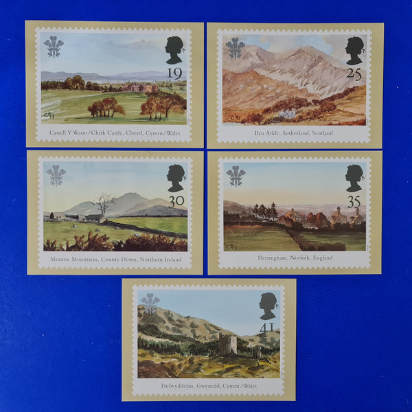 Set of 5 PHQ Stamp Postcard Set No.159 Investiture 25th Anniv. BI2