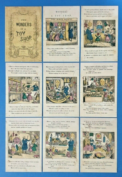 Beautiful Set of 9 Fine Art Quality Postcards, The Wonders of a Toy Shop (1850)