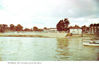 Vintage Hampshire Postcard, Hamble, The Foreshore from the River HR2