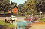 Vintage Hampshire Postcard, The Watersplash Ford, Brockenhurst, Classic Cars HO1