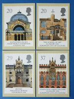 Set of 4 PHQ Stamp Postcards Set No.124 Stamp World Exhib. & Glasgow 1990 CP5