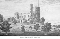 Vintage Isle of Wight Art Postcard, Norris Castle (1822) by G. Brannon HL2