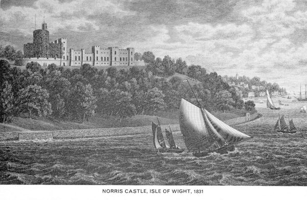 Vintage Isle of Wight Art Postcard, Norris Castle (1831) by G. Brannon HL1