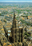 France Postcard, Aerial View of the Cathedral, Strasbourg HG1