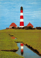 Germany Postcard, Der Leuchtturm Lighthouse in Westerhever EL3