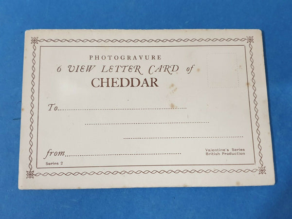 Photogravure 6 View Letter Card of Cheddar, Somerset, Series 2 GZ0