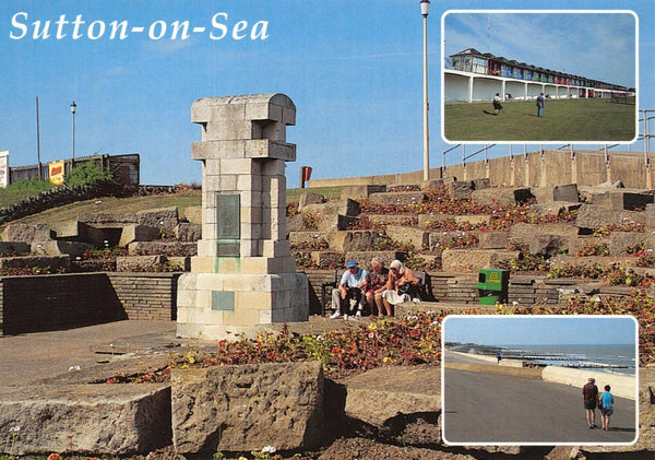 Lincolnshire Multi View Postcard, Sutton On Sea, Seafront GO5