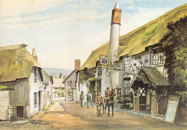 Somerset Art Postcard, The Ship Inn, Porlock c1905 by George Hooker GF7