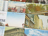 Collection of 21 United States Reproduction Tram, Trolley Bus Postcards GF0