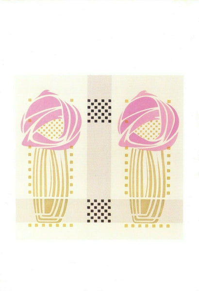 Art Design Postcard detail of Stencilled Wallpaper Charles Rennie Mackintosh GD5