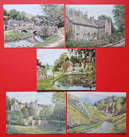 Beautiful Collection of 5 New Derbyshire Art Postcards by Sue Firth