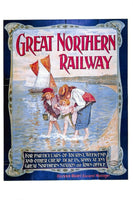 Vintage Seaside Travel Poster Postcard, GNR Great Northern Railway