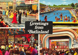 Vintage 1977 Sussex Multi View Postcard, Greetings from Butlinland, Butlins FY8