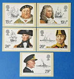 Set of 5 PHQ Stamp Postcards Set No.60 Maritime Heritage 1982 FW6
