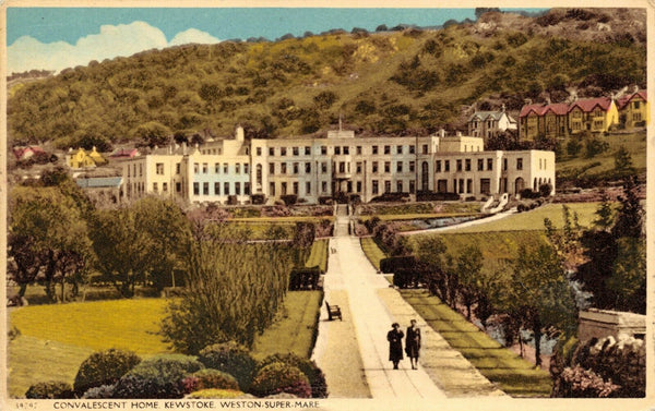 Vintage Somerset Postcard, Convalescent Home, Kewstoke, Weston Super Mare HK4