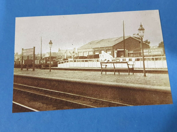 Vintage c1900 Reproduction 6x4 Photo of Harrow & Wealdstone Train Station HG7