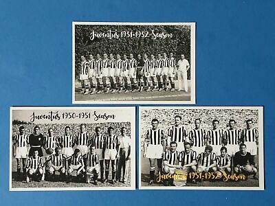 Set of 3 Quality Football Soccer Team Postcards, Juventus FC Italy