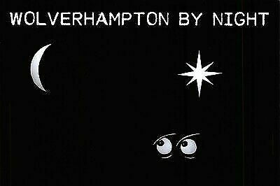NEW Postcard, Wolverhampton by Night, Humor, Novelty, Fun, Funny EO8