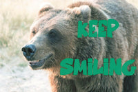 10 NEW Bear Keep Smiling Postcards great for, Postcrossing & Postcardsofkindness