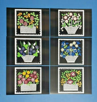 Set of  6 NEW Basket of Flowers Art Postcards Postcrossing & Postcardsofkindness