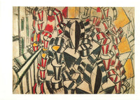 Vintage Art Postcard, The Staircase (1914) by Fernand Leger IN7