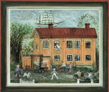 Huge Art Postcard Old School House Vaxholm Sweden by Gunilla Digman Wedel OS253