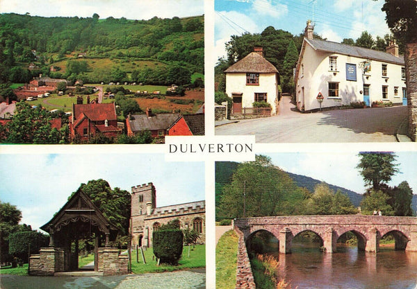 Vintage 1979 Somerset Multi View Postcard, Dulverton IP5