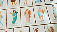 Set of 14 NEW Postcards, Greek Mythology Characters, Postcrossing