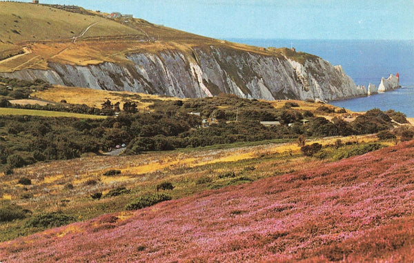 Vintage Isle of Wight Postcard, Alum Bay and The Needles JB3
