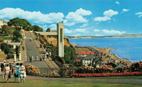 Vintage 1960s Isle of Wight Postcard, Cliff Walk and Lift, Shanklin JC7