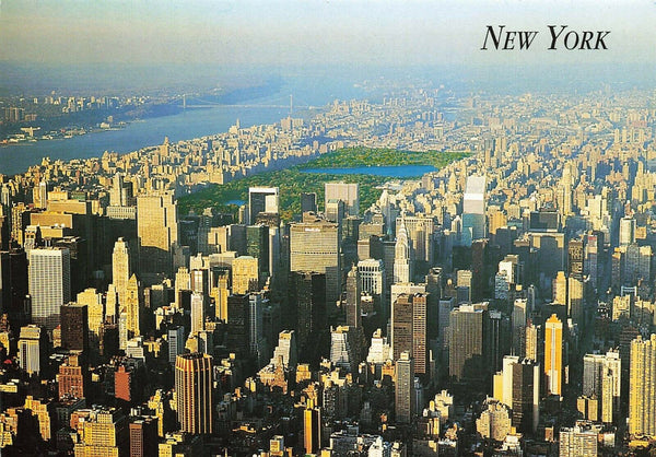 USA Postcard, Midtown Skyline New York City with View of Central Park JG2