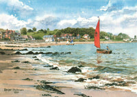 Art Postcard, Seagrove Bay, Isle of Wight (1990) by Roger Hickman JI4