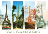 France Postcard, Les 4 Saisons a Paris, 4 Seasons Eifel Tower JK1