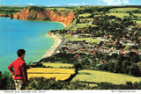 Vintage Devon Postcard, 1967, Sidmouth from Salcombe Hill JL3