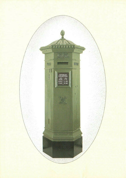 Vintage 1980s Postcard Post Office Pillar Box by Architect J.W Penfold c1872 KD2