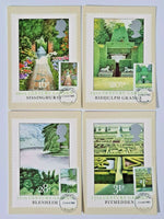 Set of 4 PHQ Stamp Postcards Set FDI (front) No.69 British Gardens 1983 KF7